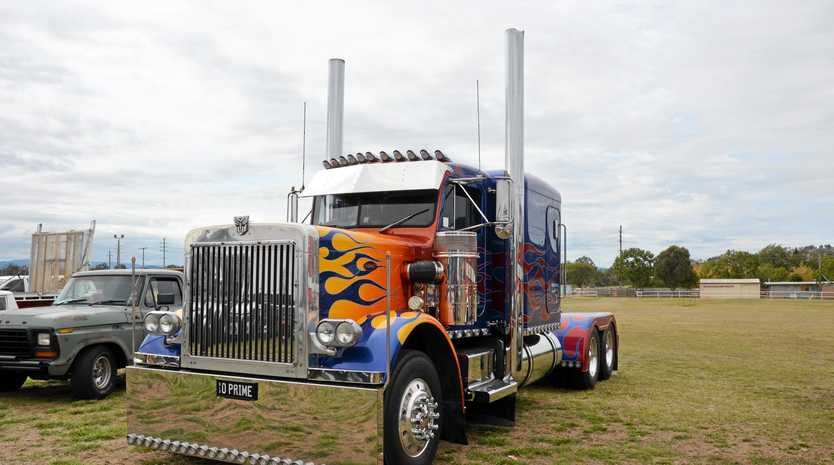 TRANSFORMER IN DISGUISE: Marshall Watego's Optimus Prime truck will be at the Lowood Truck Show again (see details below).