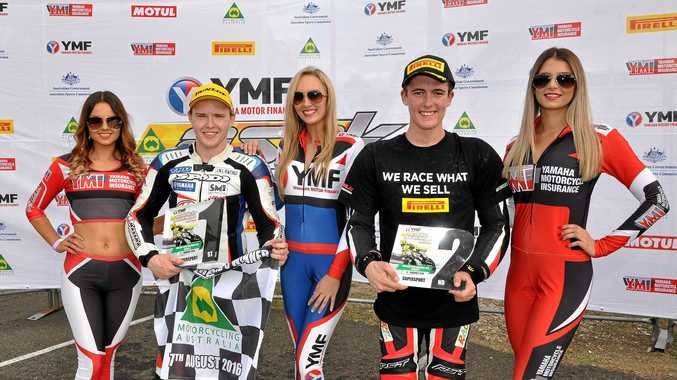 TRIPLE MILESTONE: Supersport rider Luke Mitchell claimed his first pole position, race win and round win at Morgan Park.