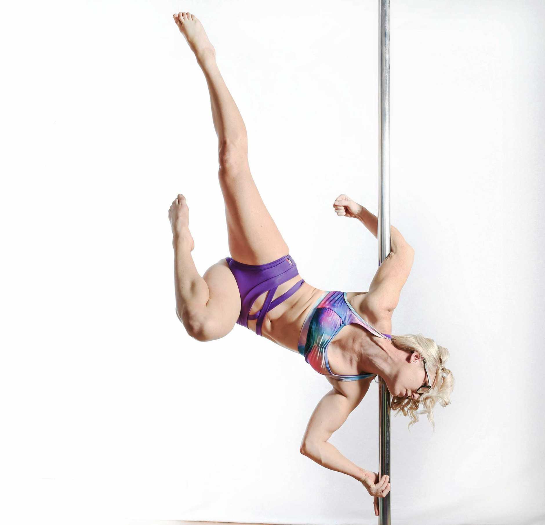 FEATS OF STRENGTH: Tamara MacKenzie will compete in Brisbane this weekend in Miss Pole Dance Queensland Heats.