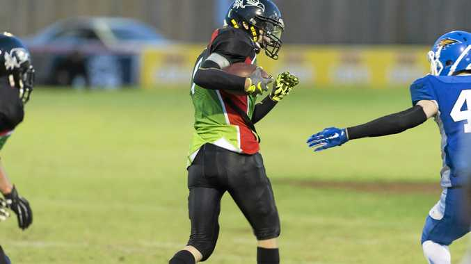 OFFENSIVE WEAPON: Toowoomba Valleys Vultures wide receiver Dale Stewart will be in action again this Gridiron Queensland season.