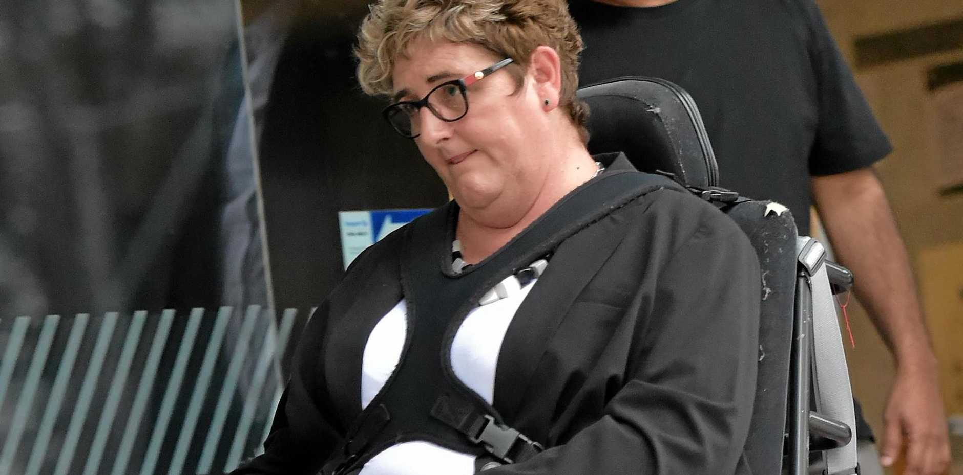 BE Lifestyle managing director Belinda Wardlaw leaves Maroochydore Court House after a July appearance at a coroner's inquest into the death of Leah Floyd.