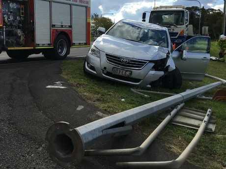 A single vehicle crash near Toowoomba.