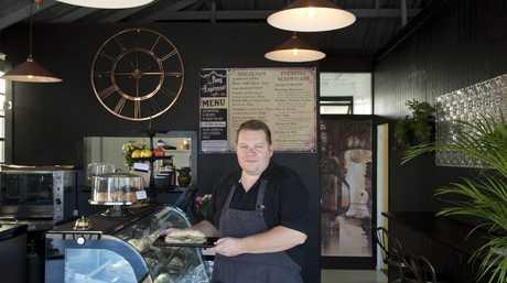Glen Hoey operates Pony Espresso coffee bar in Bowen St.