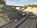 An image of what the Toowoomba Second Range Crossing will look like at the New England Highway. Photo Contributed