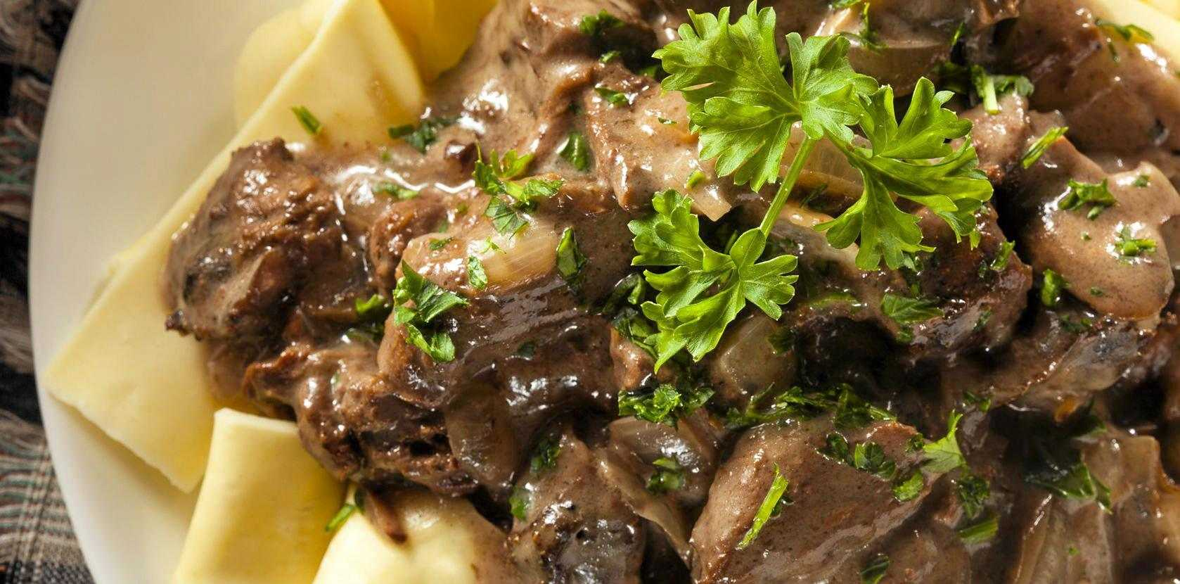 Beef Stroganoff is a traditional Russian dish.