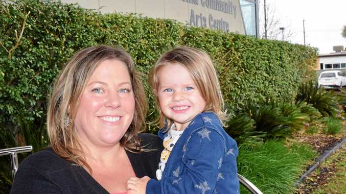 Tracey Biehn with her daughter, Myla.