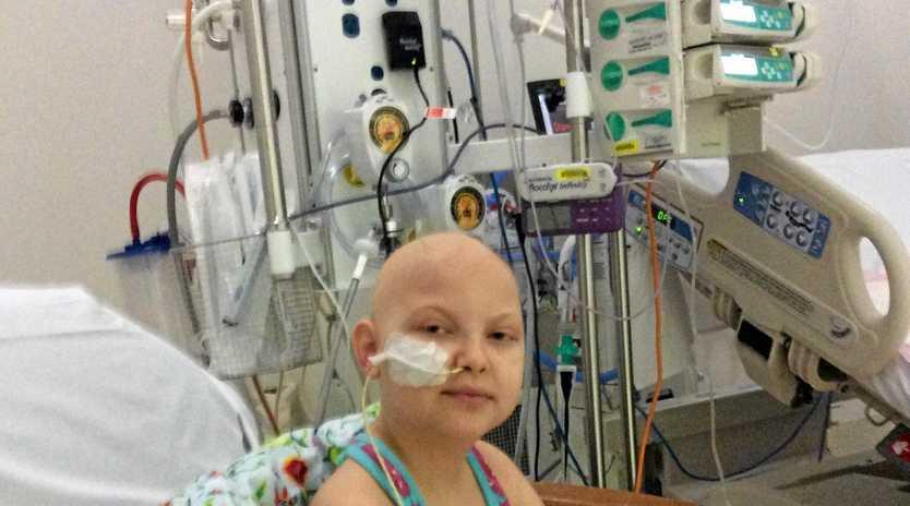 CANCER BATTLE: A movie night fundraiser will be held for Bundaberg girl Olivia Stapleton, who is undergoing treatment for acute lymphoblastic leukaemia.Photo Contributed