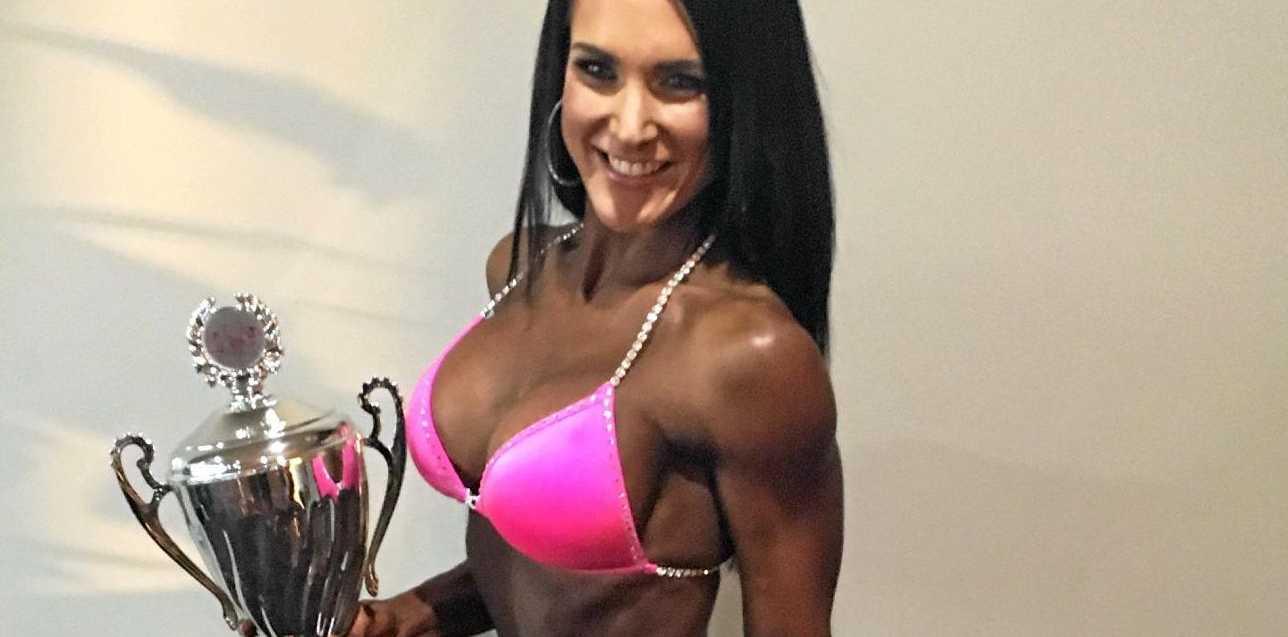FABULOUS PHYSIQUE: Nicole Challen winning.