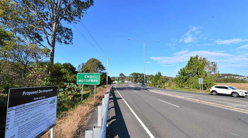 SIGN OF THE TIMES: The notification signs at the proposed Bunnings Coolum site.