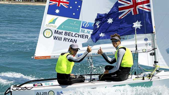 Australian yatchsmen Mat Belcher and Will Ryan have begun their Olympic gold defence well.