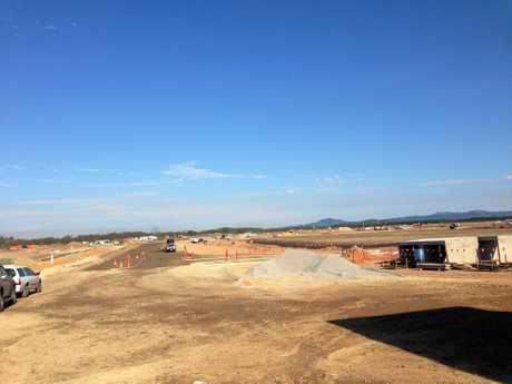 Construction underway at Aura