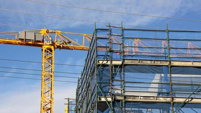 Construction cranes on the Mooloolaba skyline.