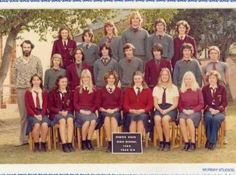 OLD SCHOOL YARD: The Senior Year photo of Greg Groves (back row centre) at Gympie State High.