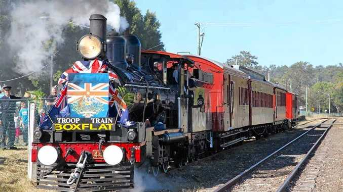 TROOP TRAIN: Head out to Bundamba and join the troop train recreation on Sunday.