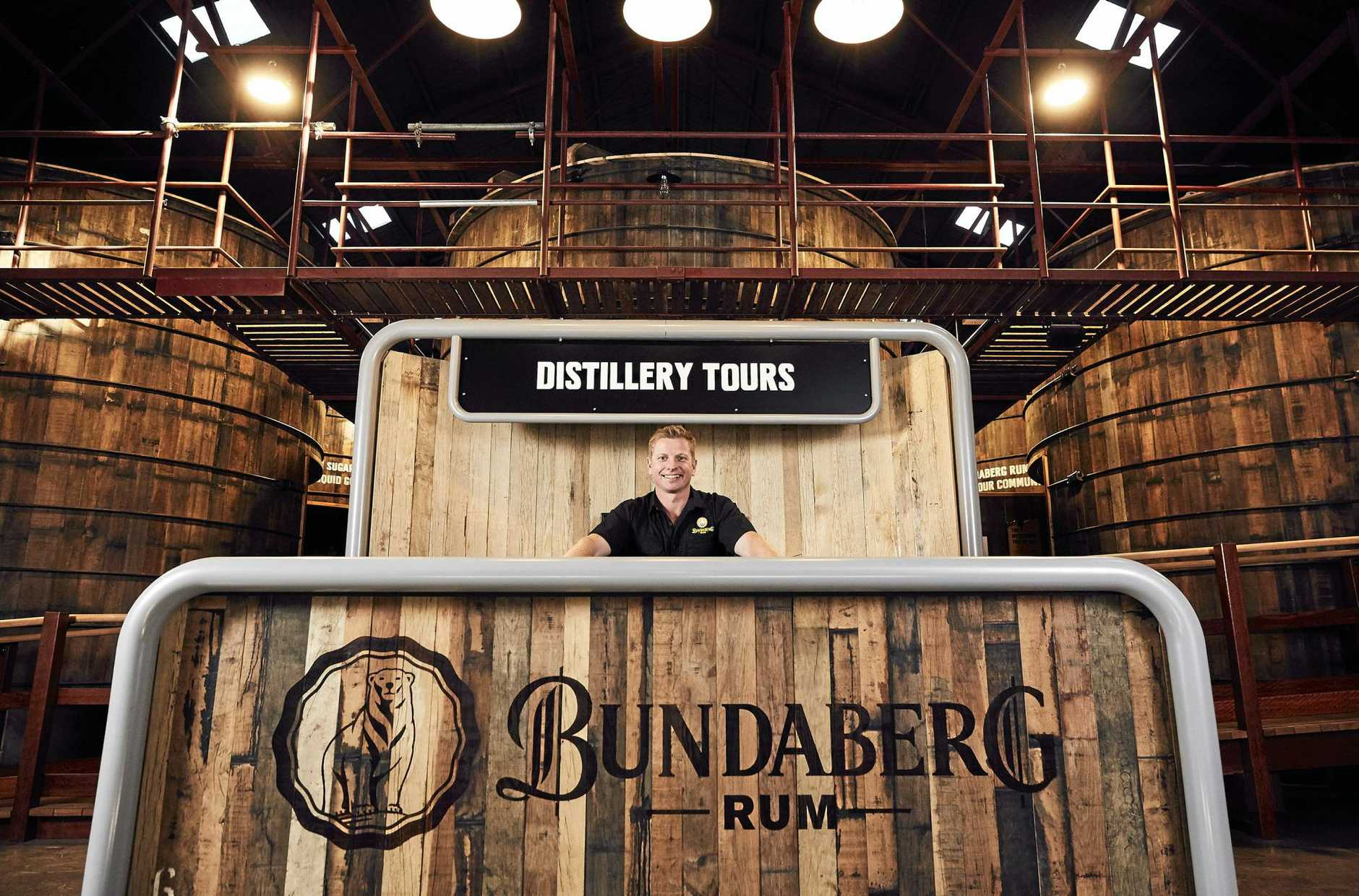Duncan Littler inside the new Bundaberg Rum Visitor Centre.Photo Contributed