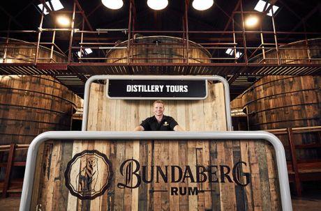 Duncan Littler inside the new Bundaberg Rum Visitor Centre.Photo Contributed