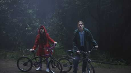 Miranda Bennett and Maddison Brown in a scene from The Kettering Incident.