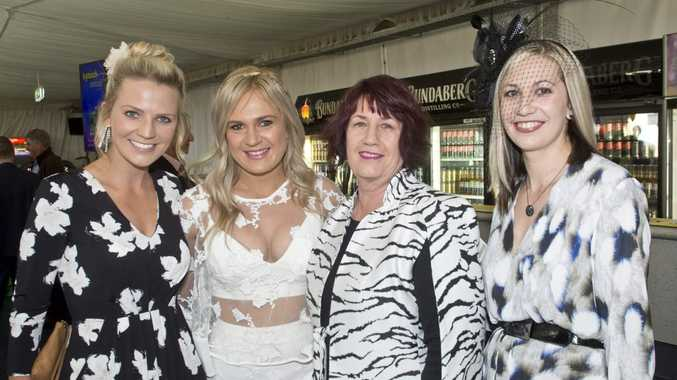 GOOD CAUSE: Enjoying the Toowoomba Hospice race day are (from left) Claire Ryan, Janae Windsor, Vanessa Healy and Jacqui Blackburn.