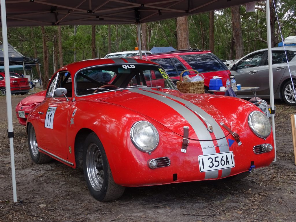 Iain Nowell's 1958 Porsche 356A at the 2016 Autobarn Noosa Hill Climb Winter Challenge. Photo: Julie Lucht