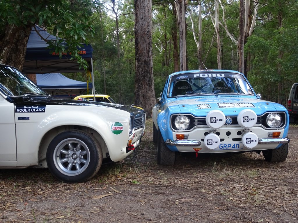 Mk1 Ford Escorts ready for battle at the 2016 Autobarn Noosa Hill Climb Winter Challenge. Photo: Julie Lucht