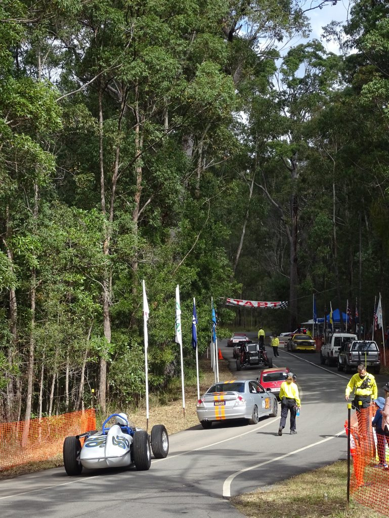 CCompetitors line up at the 2016 Autobarn Noosa Hill Climb Winter Challenge. Photo: Julie Lucht