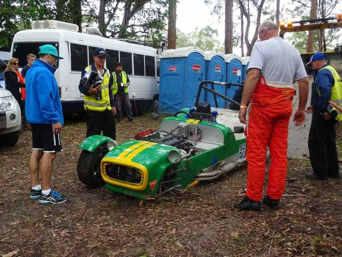 1990 Amaroo Clubman a victim at the 2016 Autobarn Noosa Hill Climb Winter Challenge. Photo: Julie Lucht