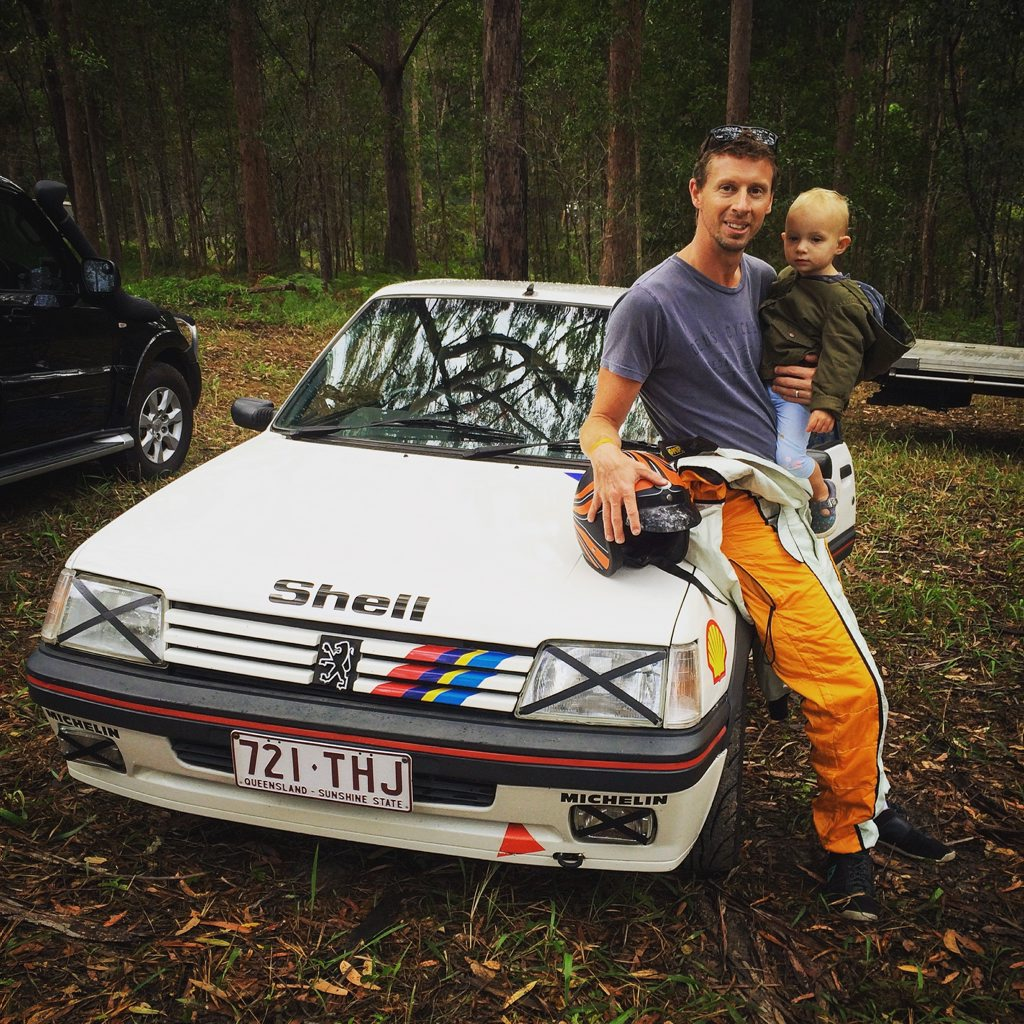 Iain Curry's 1989 Peugeot 205GTi at the 2016 Autobarn Noosa Hill Climb Winter Challenge. Photo: Julie Lucht