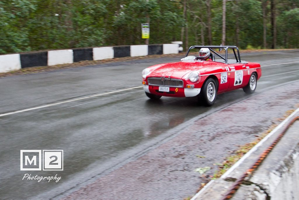 1964 MG B at the Noosa Hill Climb Winter Challenge 2016. Photo: M2 Photography