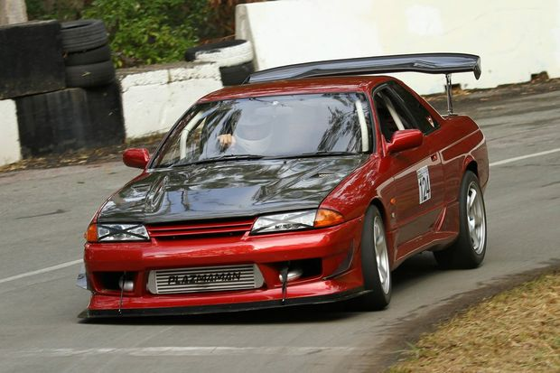 Douglas Tapper's 1993 Nissan Skyline was ninth overall at the 2016 Autobarn Noosa Hill Climb Winter Challenge. Photo: Trapnell Creations
