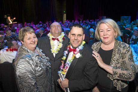 Having a ball are (from left) Linda Peacock, Robert Bishop, Cameron Fetter and Libby Flanagan as the Endeavour Foundation host Ball for All at Empire Theatre's Armitage Centre, Saturday, August 6, 2016.