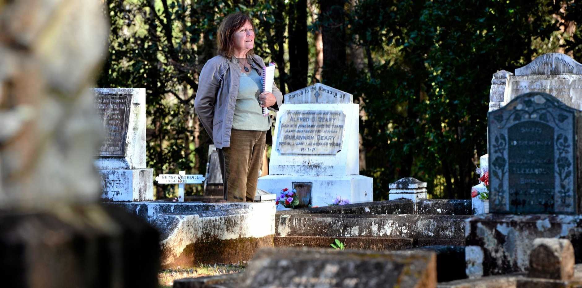 HISTORY LESSON: Alison Napier will conduct Pomona Cemetery walks for the public to share stories of people buried there.