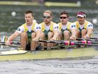 Australia finished in the silver medal in the men's quad sculls.