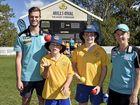 Kids warm to visit from Brisbane Heat hot shots