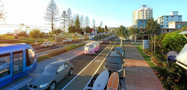 VISION: The future light-rail system envisaged along Alexandra Parade.