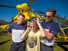 Students treated to rescue helicopter visit