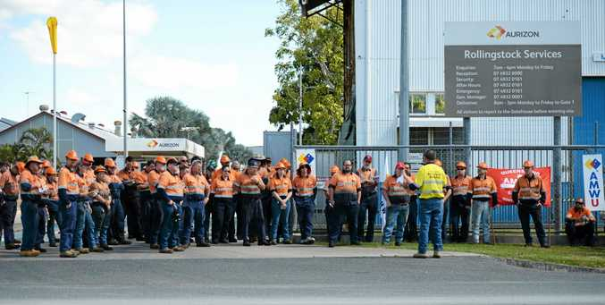 Aurizon works to a walk out at 1pm over a number of work issues.
