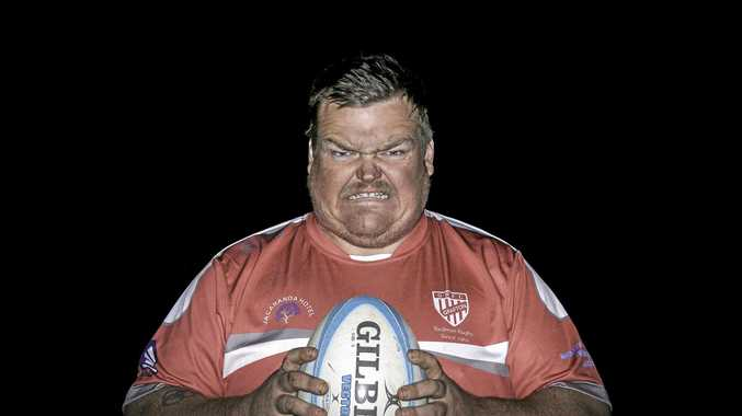 GETTING DOWN TO BUSINESS: Rampaging Redmen prop James Towns will use his ruthless aggression and strong presence on field against the Coffs Snappers this weekend to book the Grafton side a place in the grand final.