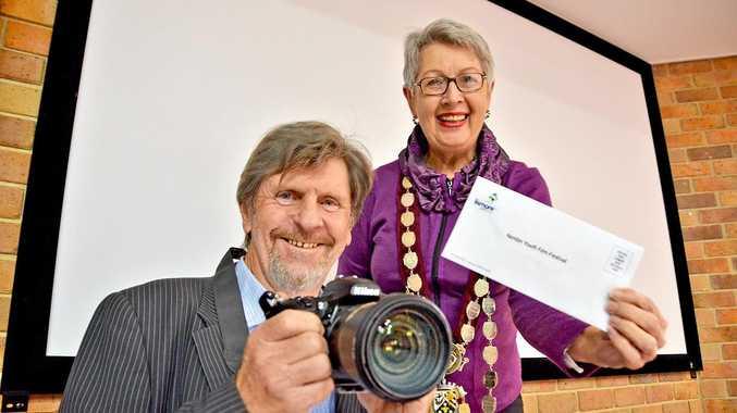 Mayor of Lismore Jenny Dowell and organiser of NYFF 2016 Darmin Cameron
