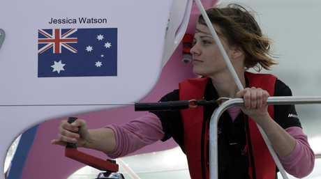 Plain sailing ... Jessica Watson.