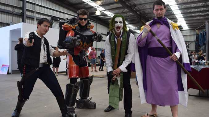 Shogo Iida came as Han Solo, Lindsay Dorwood put his boilermaking skills to use creating a Zeke costume, Mick Douglas came as the Joker and Zachary Trounson came as Admiral Fujitora, a character he admired for his ability to control gravity.Photo: Emily Smith