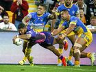 Jonus Pearson of the Broncos scores a try during Round 23 of the NRL match between Brisbane Broncos and Parramatta Eels at Suncorp Stadium,Brisbane, Friday, August 12, 2016.