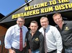 Keith Pitt, Anthony Mortimer, Jack Dempsey and Duncan Littler at the  new Bundaberg Rum Distillery opening.