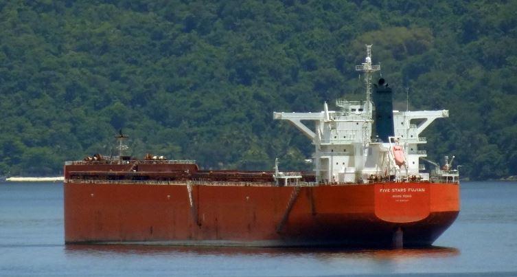 The Hong-Kong flagged Five Stars Fujian ship.