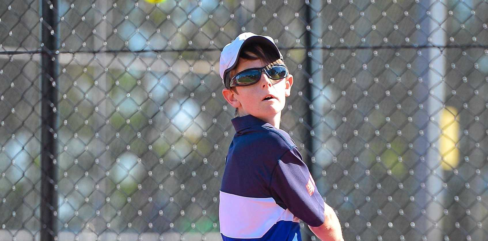 Thomas Llewllyn at the Gladstone Junior Tennis Open August14, 2016.