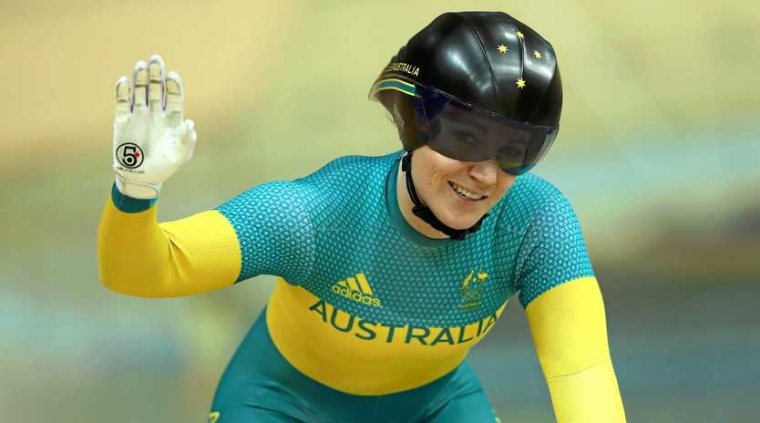 Anna Meares finished third in the keirin.