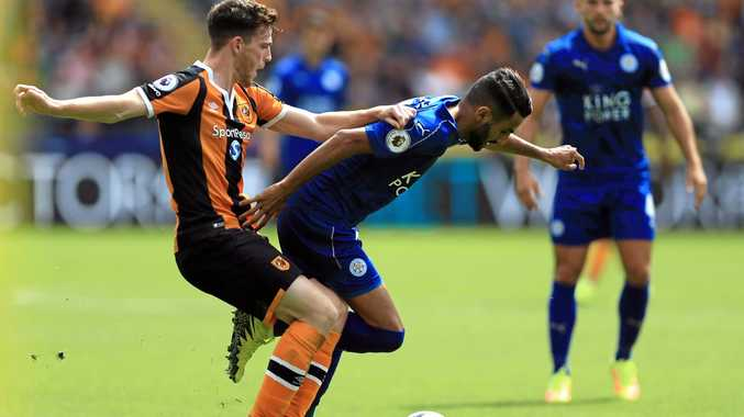 Action from the Hull v Leicester clash.