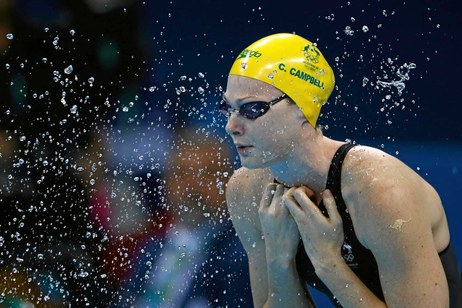 RIO DE JANEIRO, BRAZIL - AUGUST 13:  Cate Campbell of Australia prepares ahead of the Women's 50m Freestyle Final on Day 8 of the Rio 2016 Olympic Games at the Olympic Aquatics Stadium on August 13, 2016 in Rio de Janeiro, Brazil.  (Photo by Clive Rose/Getty Images)