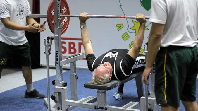 FIGHTING FIT: Retired Uniting Church Minister, Iven Hewett won gold at the Australian Powerlifting Championships in Melbourne.