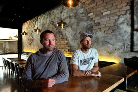 Orleans Bar and Restaurant owners Liam Brown and Brendan Bryant are looking forward to opening in Duporth Ave on Friday.