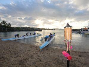 Paddlers drop an oar for Airlie Beach Race Week